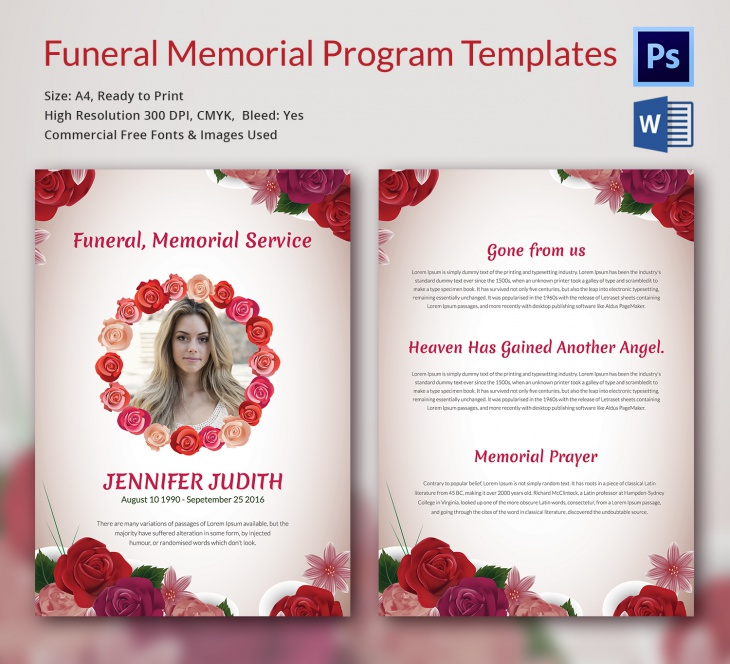 5 Funeral Memorial Templates Free Word Pdf Psd Documents
