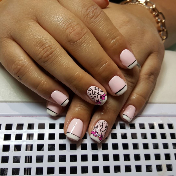 Short Gel Nail Design with Bows - 59+ Short Nail Designs, Ideas Design Trends - Premium PSD