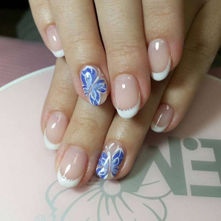 short french nail design for prom