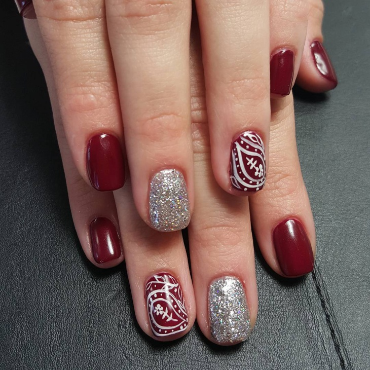 Red Nail Art Designs For Short Nails: 59+ Short Nail Designs, Ideas