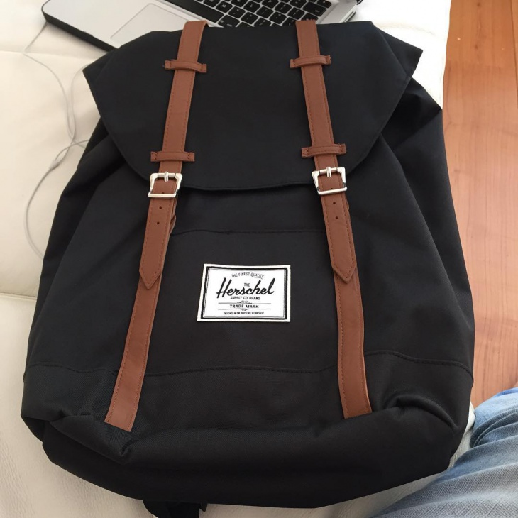 black hipster backpack
