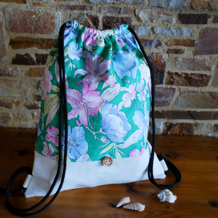 hipster floral backpack