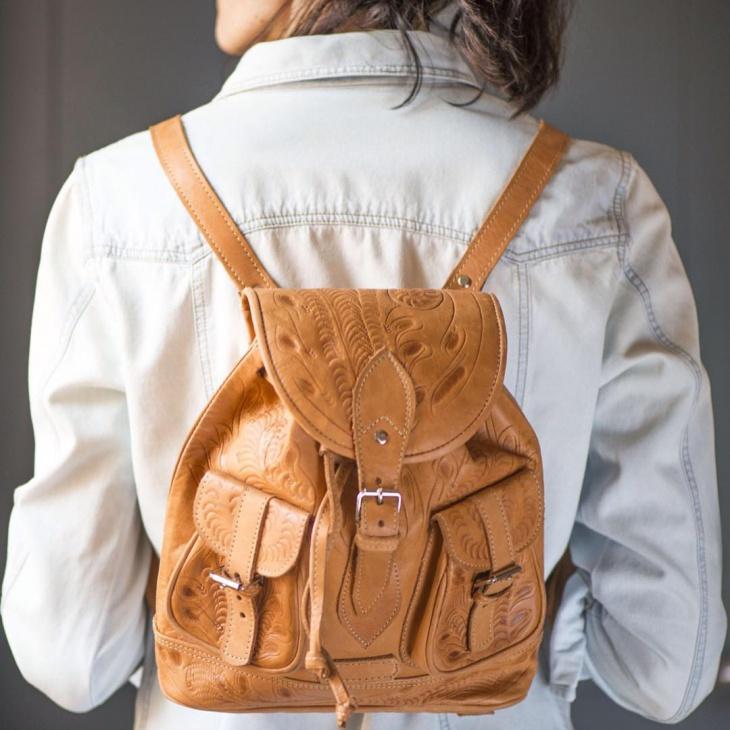 retro hipster backpack