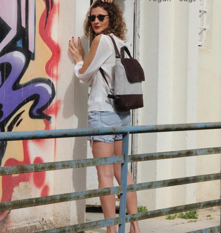 hipster travel backpack