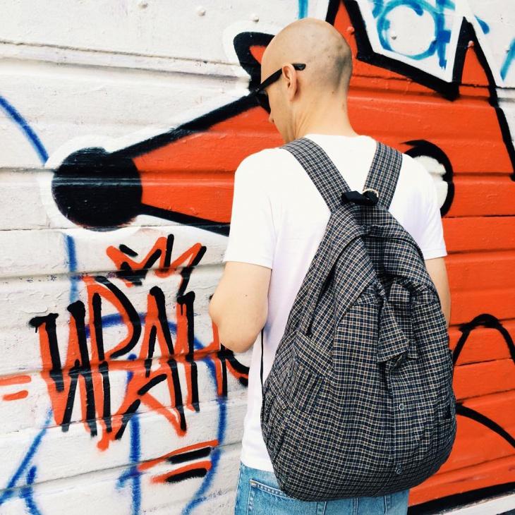 large hipster backpack