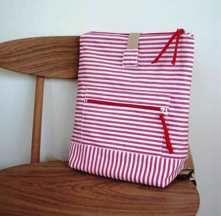 hipster stripe backpack