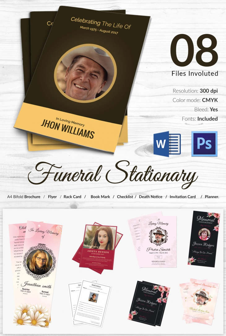 High Resolution Funeral Stationary Mockup