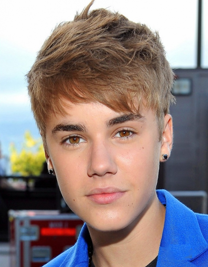 Justin Bieber Short For Men Haircut With Bangs
