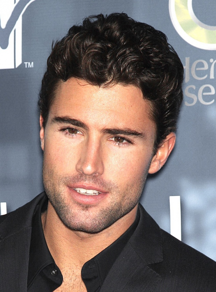 brody jenner short curly haircut for men