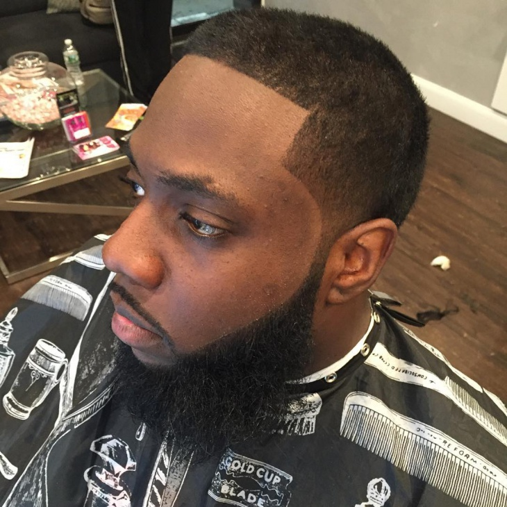 black men fade haircut design
