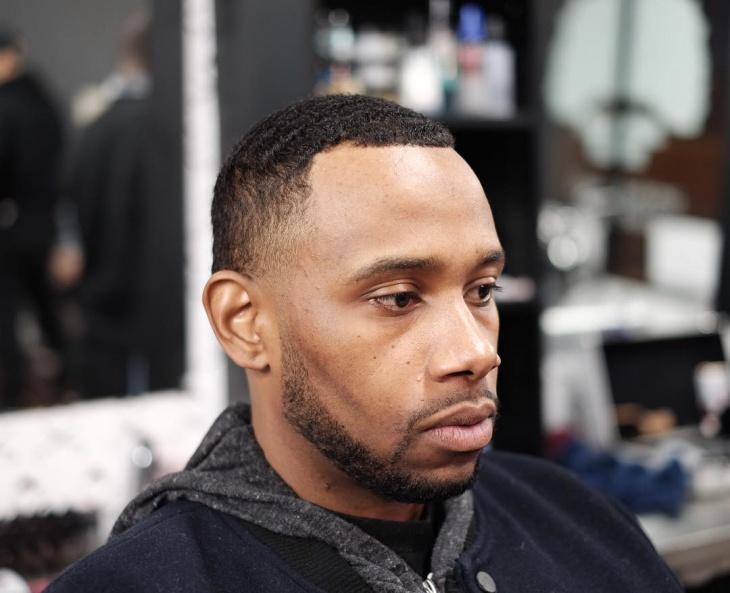 blowout haircut design for black men