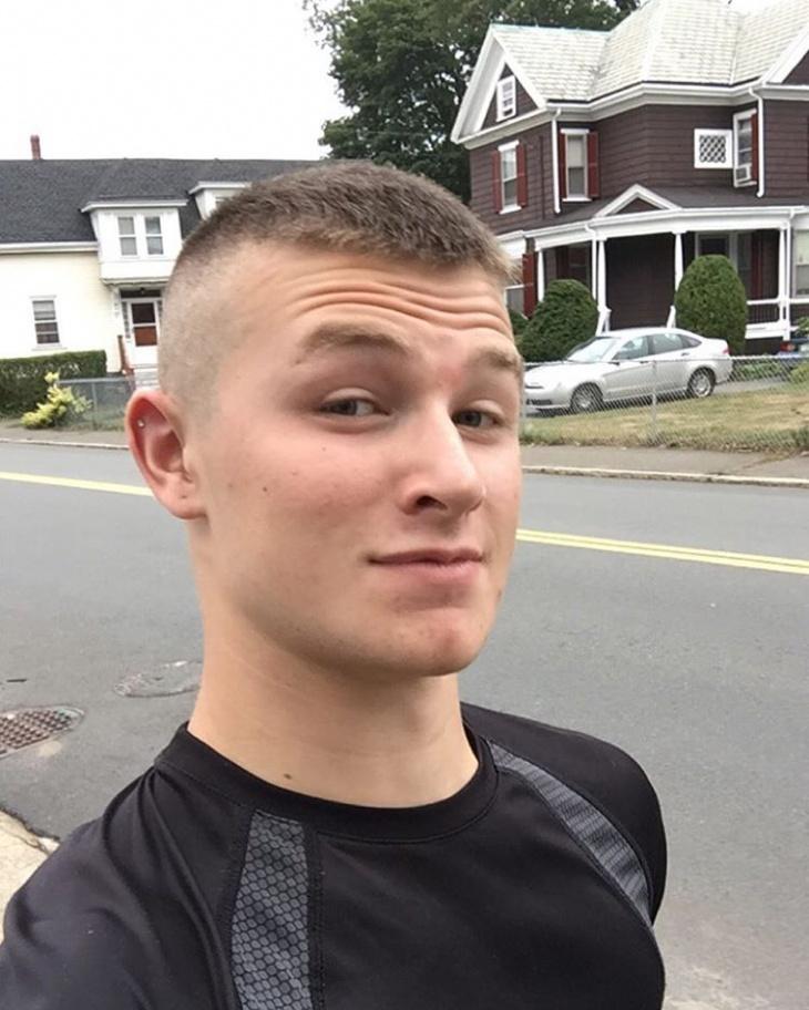 military bald haircut design for men