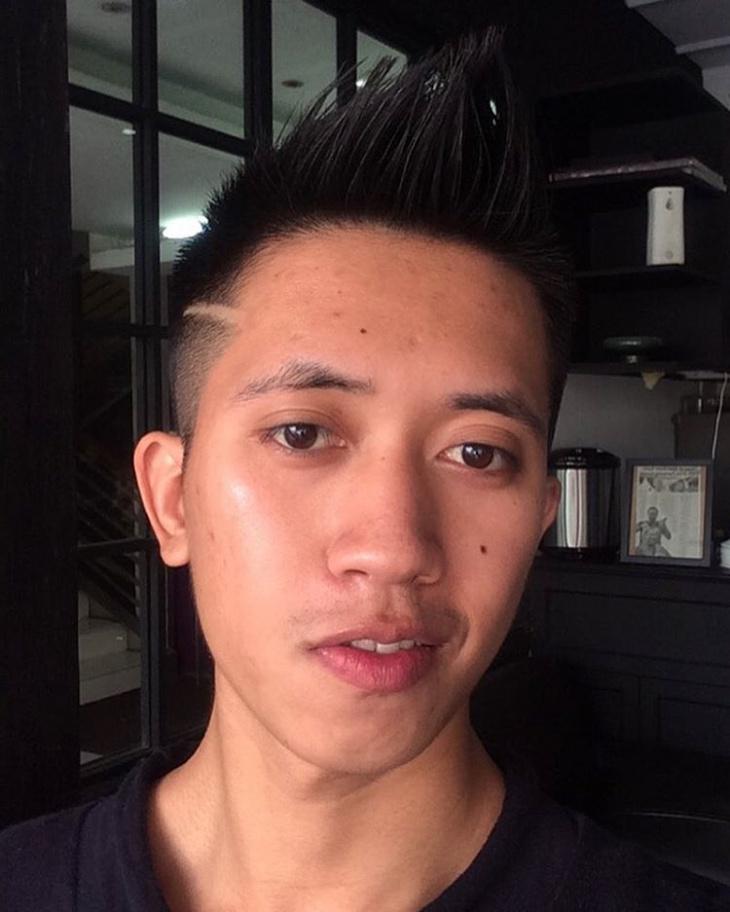 mens undercut spiky hairstyle design
