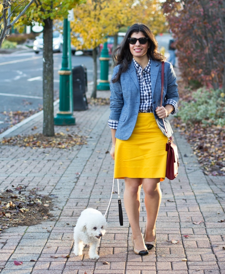 preppy fall outfit idea1