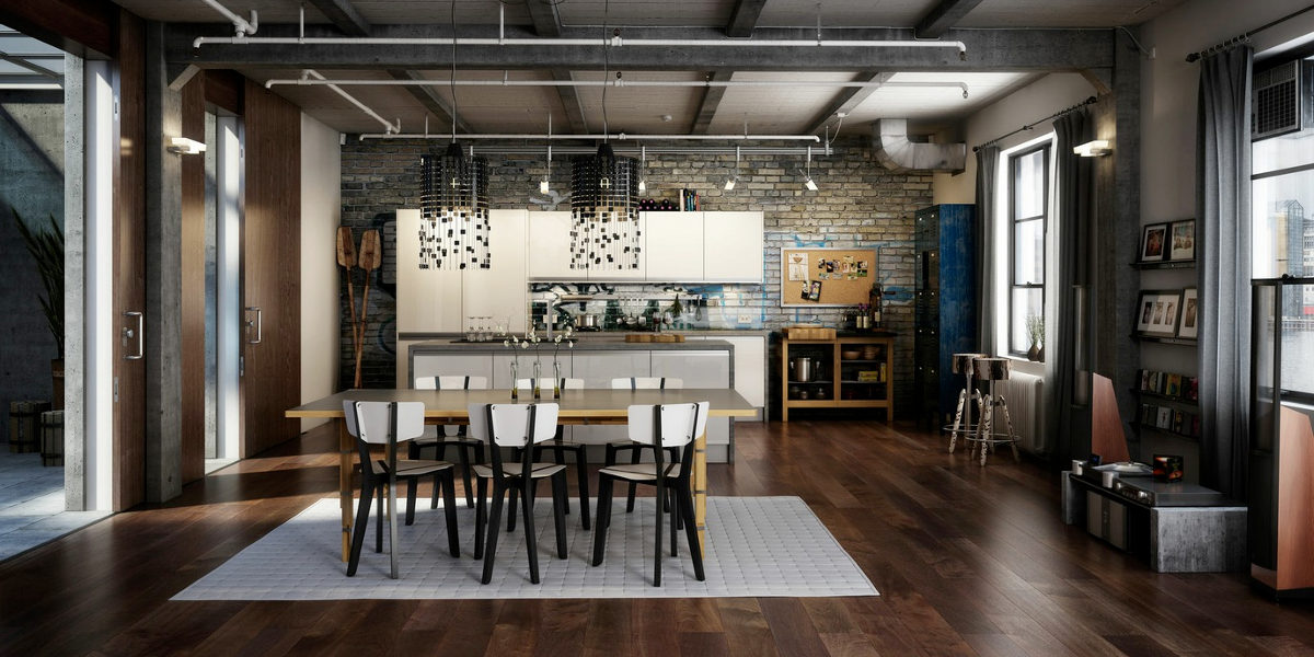 blending the look of modern with industrial