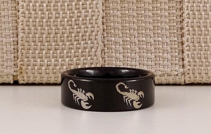 black scorpion ring design