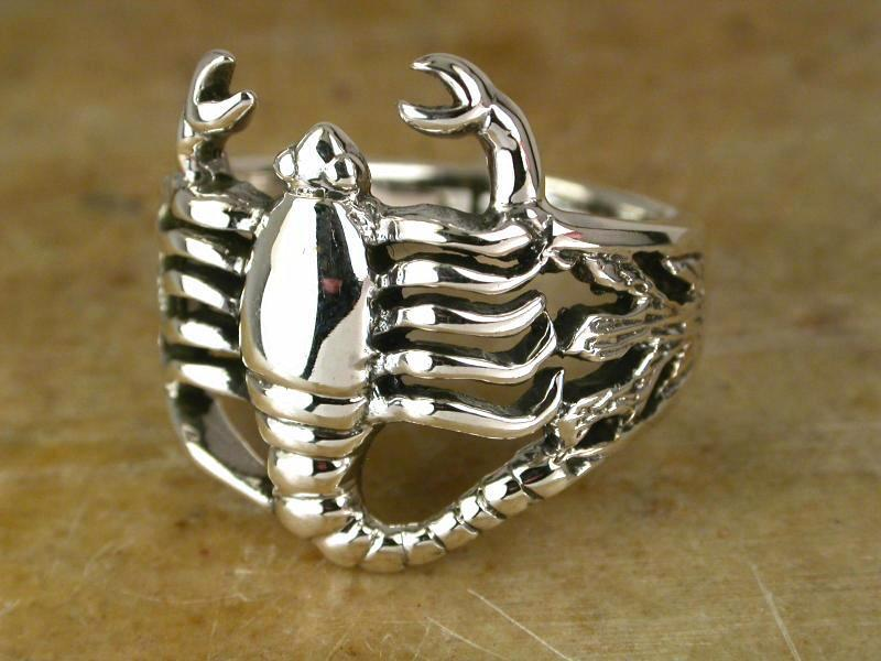 silver scorpion ring