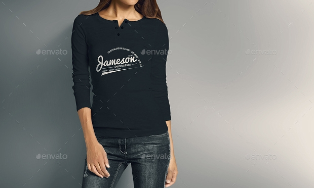 long sleeve t shirt mockup