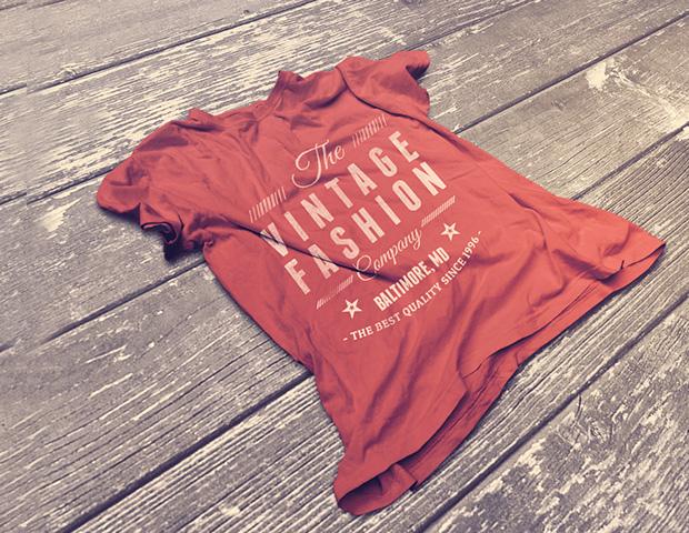 vintage t shirt mockup