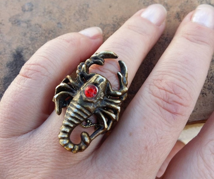 steampunk scorpion ring1