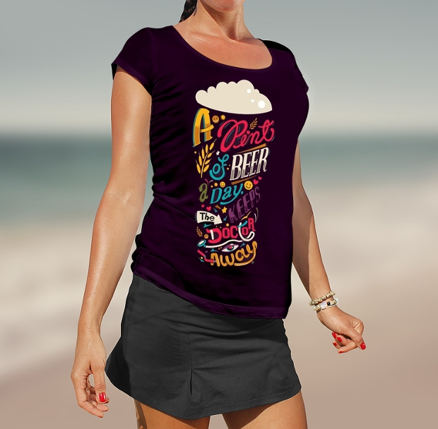 girl t shirt mockup design