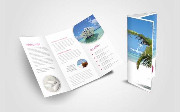 tri fold travel brochure design
