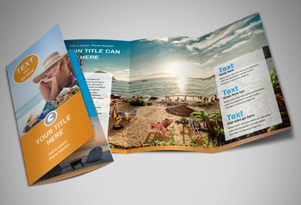 sunny travel brochure design