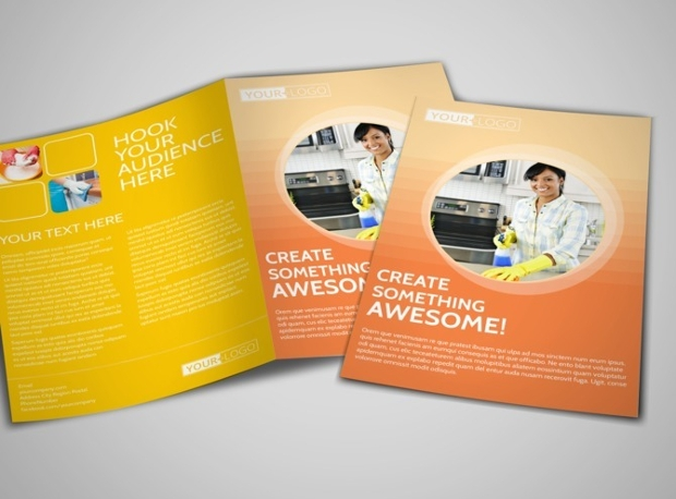 cleaning business brochure design