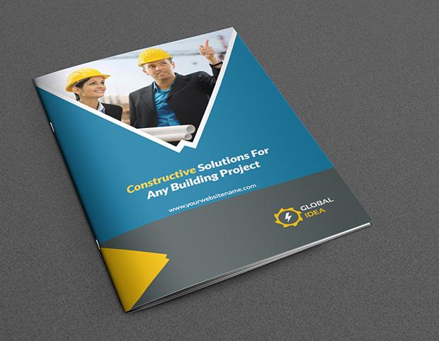construction business brochure design