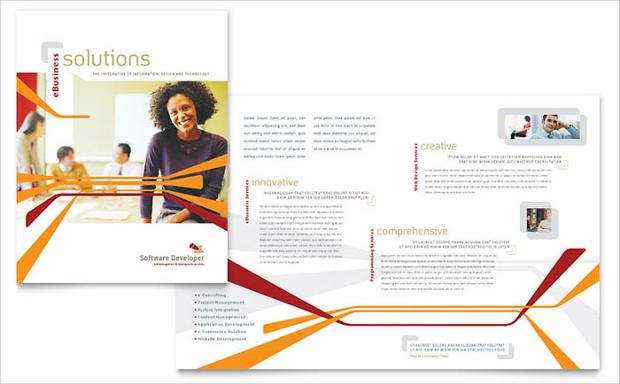 software product brochure design