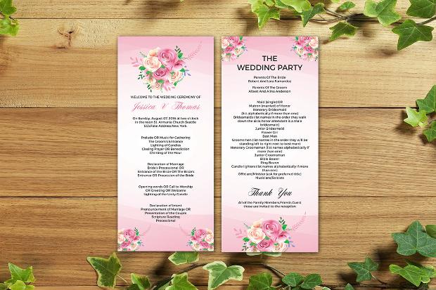 wedding ceremony brochure design