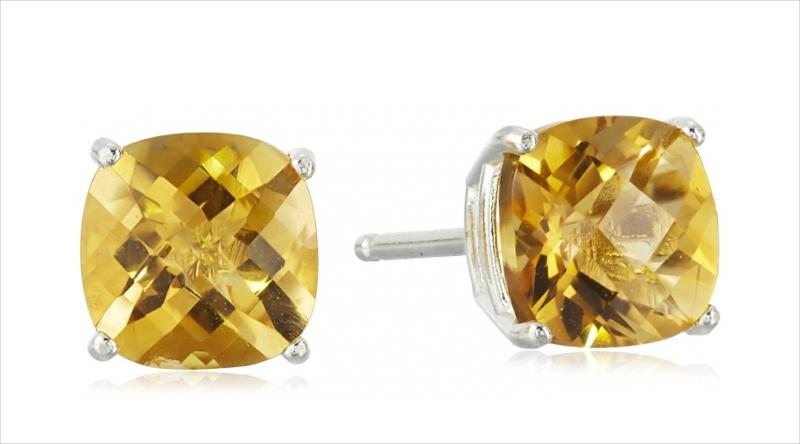 citrine stud earrings1