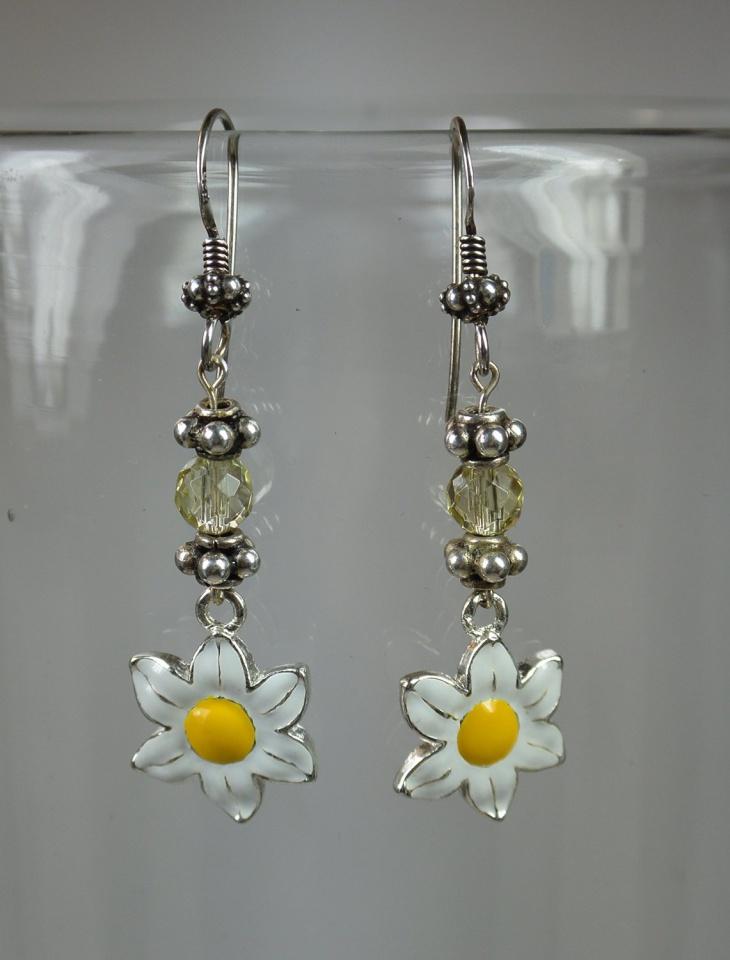 flower citrine earrings design