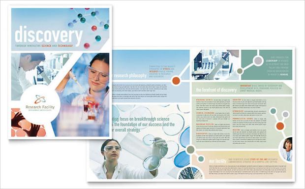 medical research brochure design