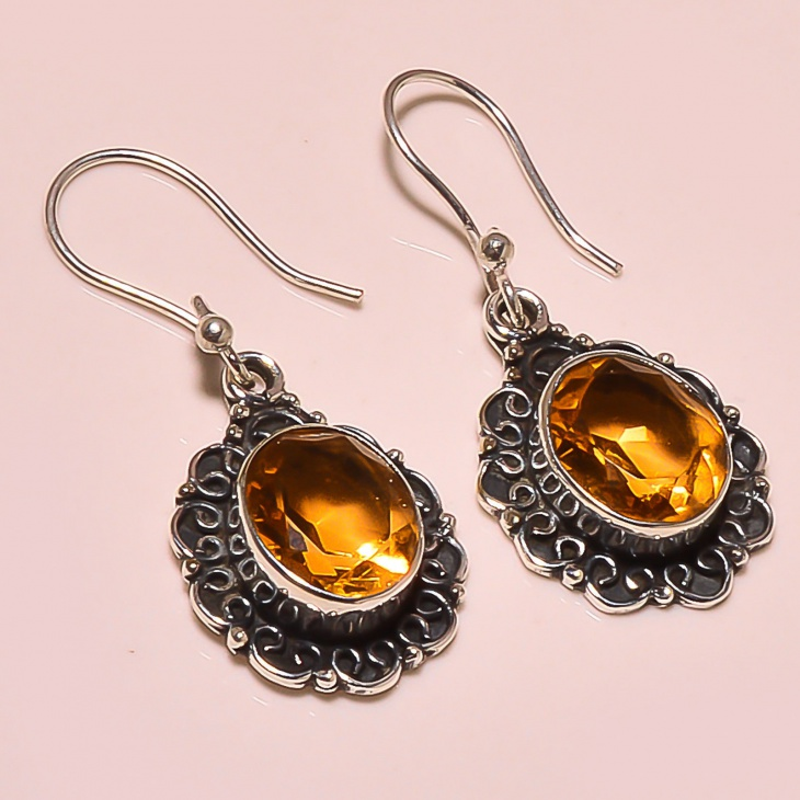 vintage citrine earrings