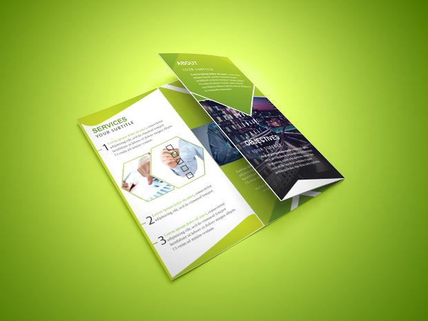 minimalist tri fold brochure design