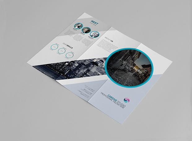 creative minimalist brochure design