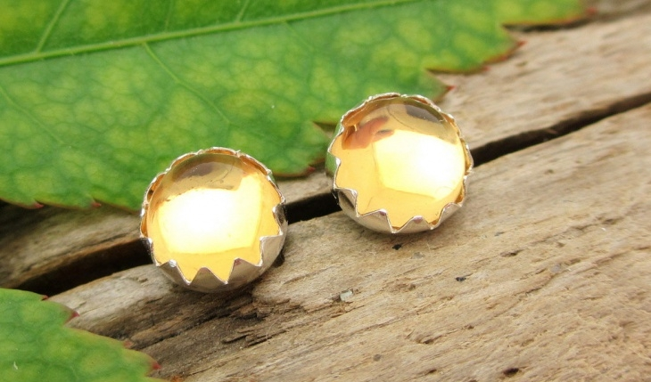 Light Yellow Citrine Earrings