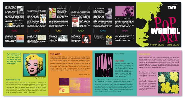 museum exhibit brochure design