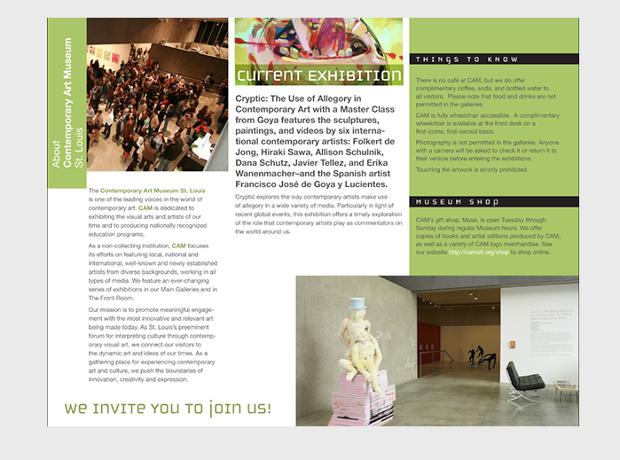 art museum brochure design
