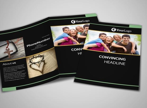 church bifold brochure design