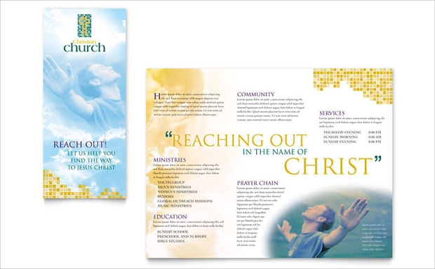 church brochure design 55 brochure designs printable psd ai indesign vector