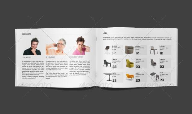 minimal furniture brochure design