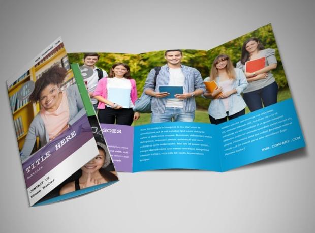 22trifold university brochure design