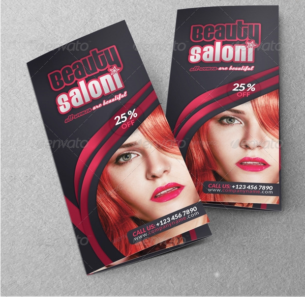 beauty salon brochure design