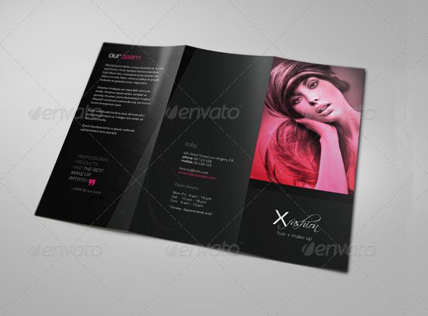 hair salon brochure design