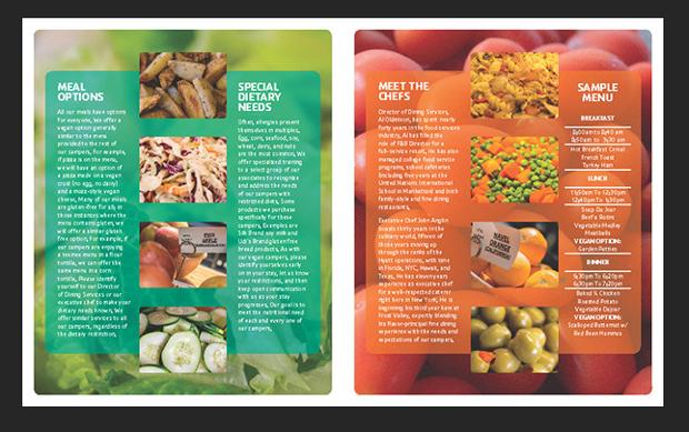 food service brochure design