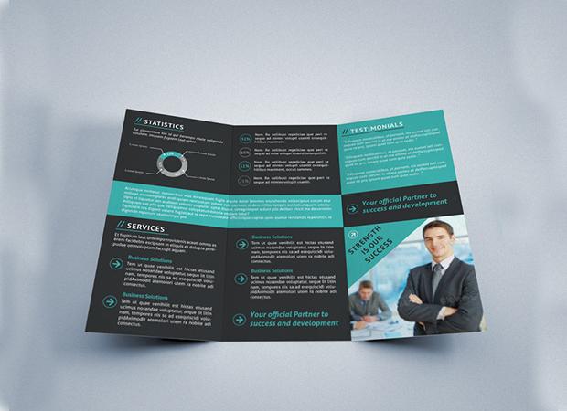 20 tri fold brochures printable psd ai indesign for Indesign tri fold brochure template