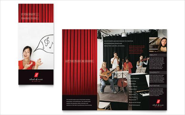 music academy brochure design
