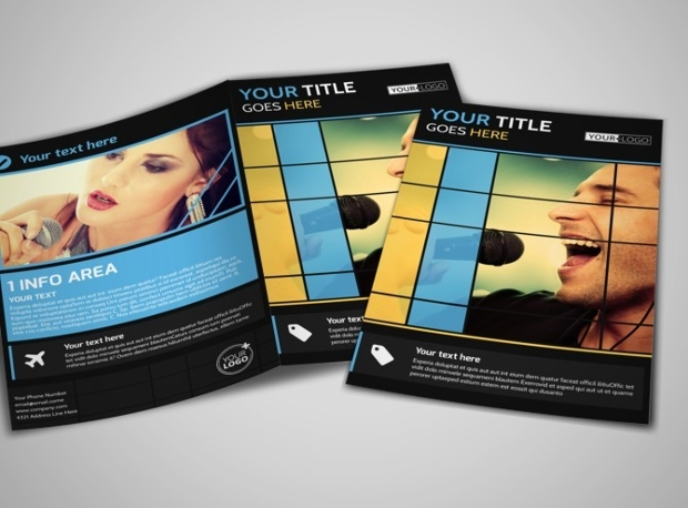 music event brochure design
